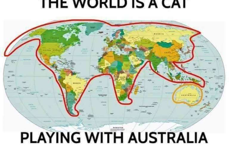 Ο κόσμος ειναι γάτα και παίζει με την Αυστραλία!